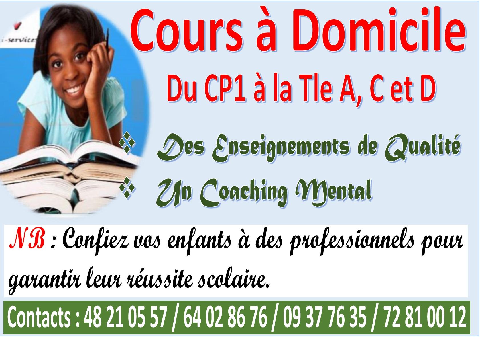 COURS A DOMICILE - Annonces - Educarriere.ci